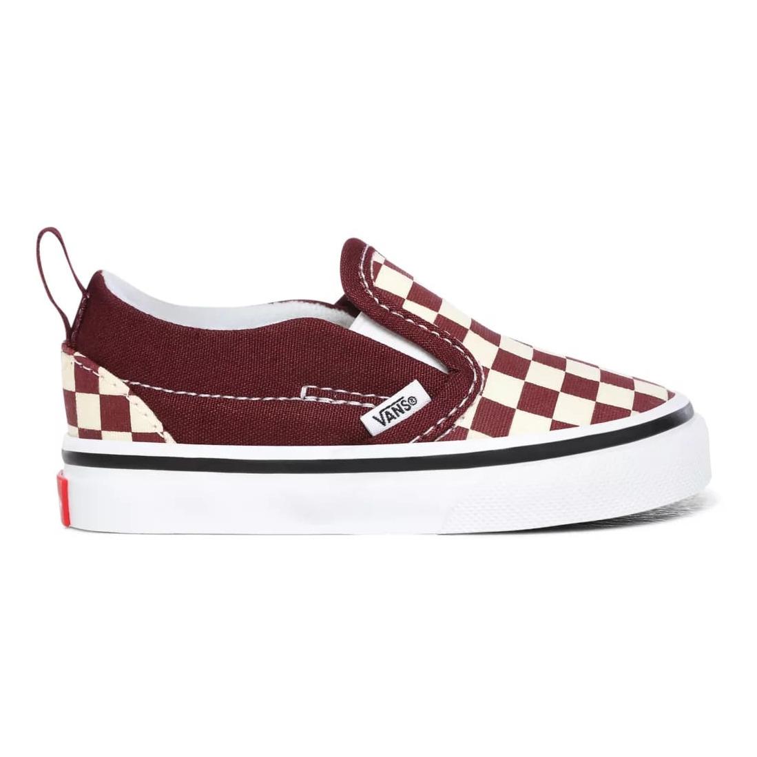 Velcro Slip On Sneakers Burgundy Vans