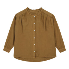 product-Poudre Organic Amande Double Organic Cotton Muslin Blouse