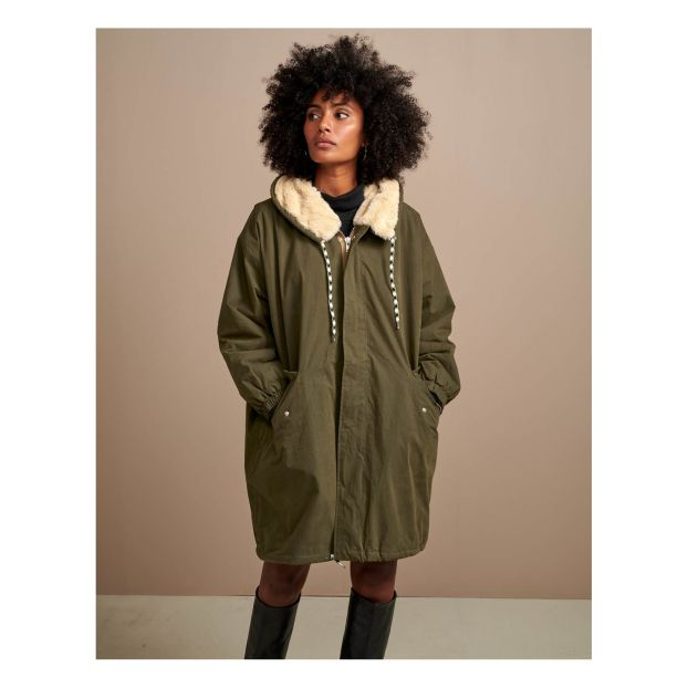 Parka Laos Collection Femme Vert olive Bellerose Mode Adulte