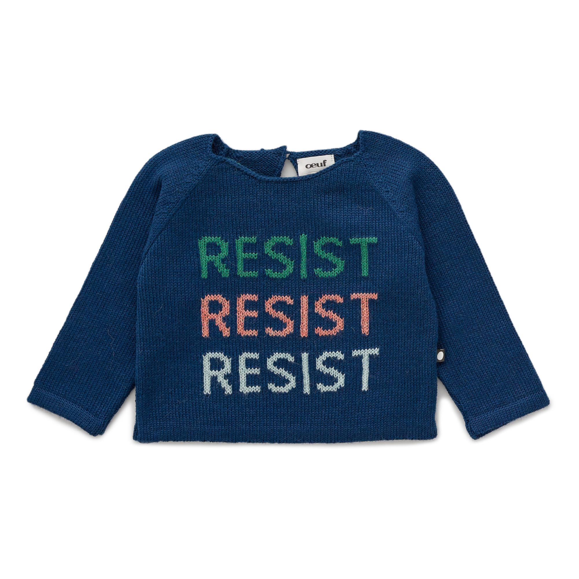 Oeuf NYC - Pull Baby Alpaga Resist - Fille - Bleu indigo