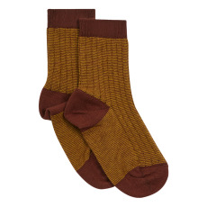 product-Caramel Two-tone Socks