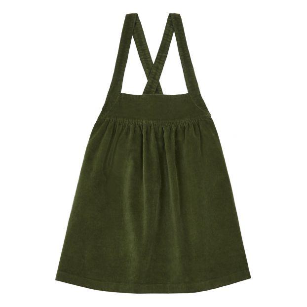 Robe Tablier Velours Vert Kaki Zhoe Tobiah Mode Enfant