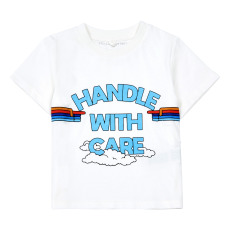 product-Stella McCartney Kids Handle with Care T-shirt in Organic Cotton