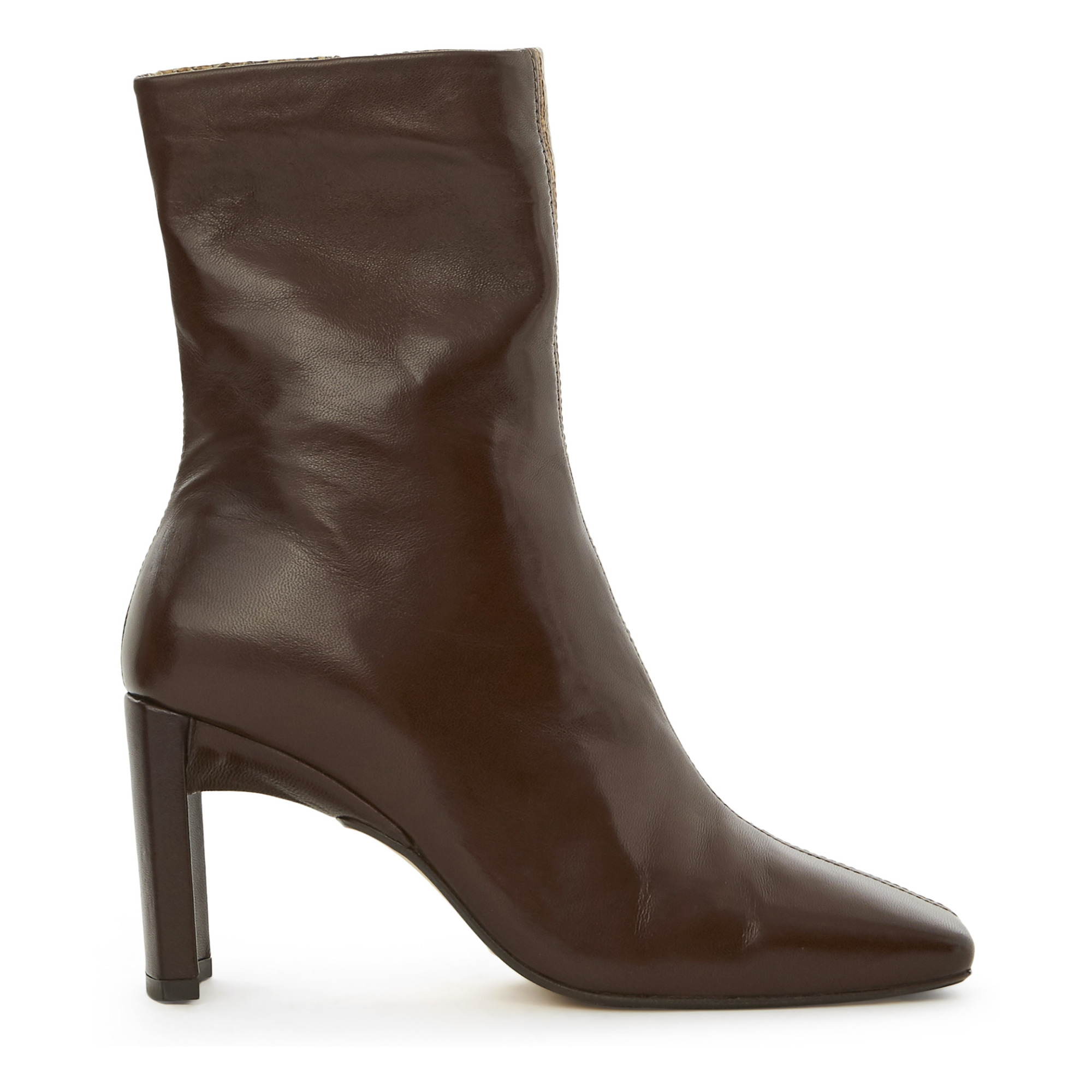 Ekatarina Two-Tone Snake Print Ankle Boots