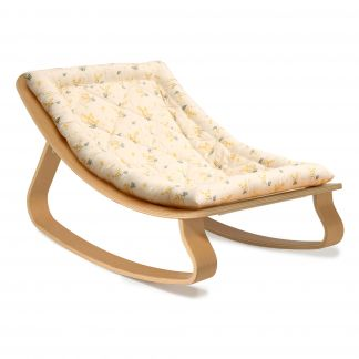 Levo Walnut Baby Bouncer X Mimosa By, Leather Baby Rocking Chair
