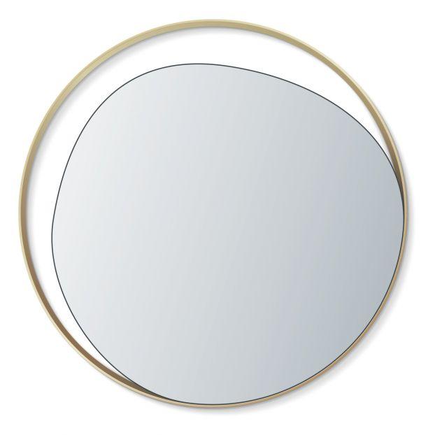 Glass Mirror D80 Cm Brass Red Edition, Red Round Mirror