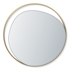product-Red Edition Ellipse Brass & Glass Mirror - D80 cm