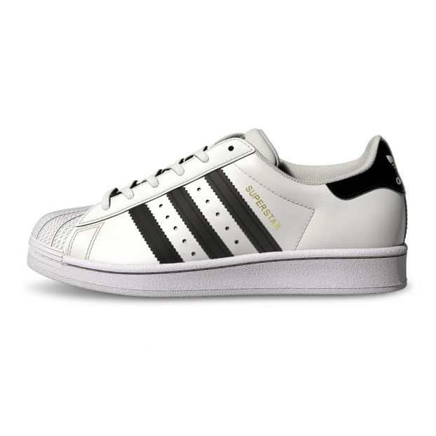 Baskets Superstar Lacets Blanc Adidas Chaussure Adolescent