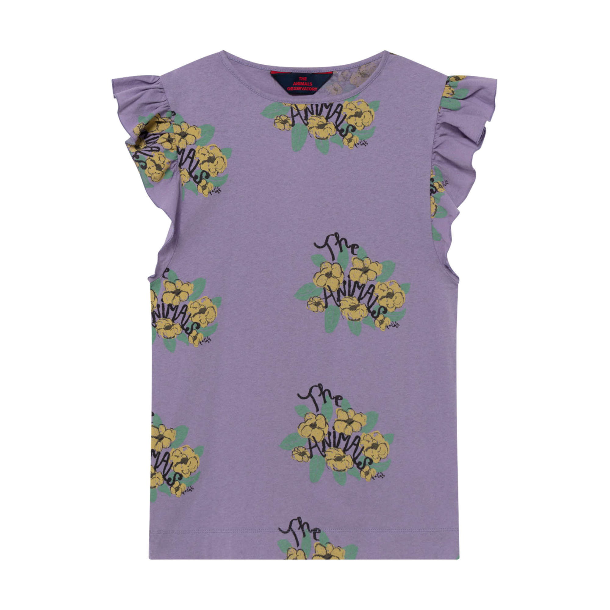 kleid jersey fly blumen violett the animals observatory mode kind