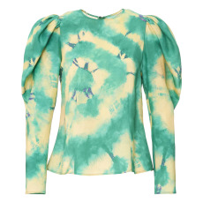 product-Ulla Johnson Ora Silk Tie Dye Blouse