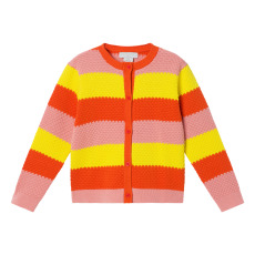 product-Stella McCartney Kids Cardigan Coton Bio Rayé