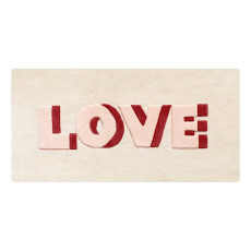 "product-Maison Deux Wool ""Love"" Rug 100 x 50cm"
