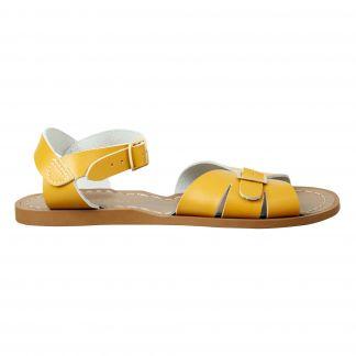 Salt Water Sandals-Womens RUST PROOF BUCKLES Original-Mustard Leather Sandals