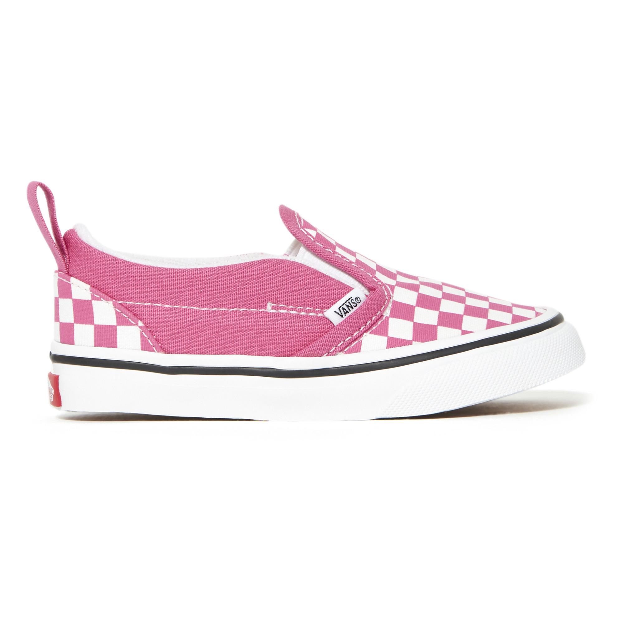 Slip-On a quadri Fuscia Vans Scarpe Teenager , Bebè , Bambino