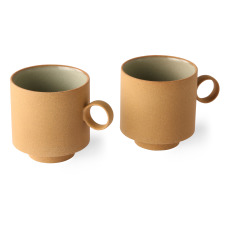 product-HKliving Mug en céramique - Set de 2