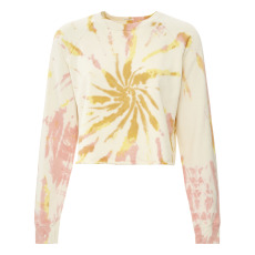 product-Mother Sweat The Loafer Crop Fray Tie and Dye