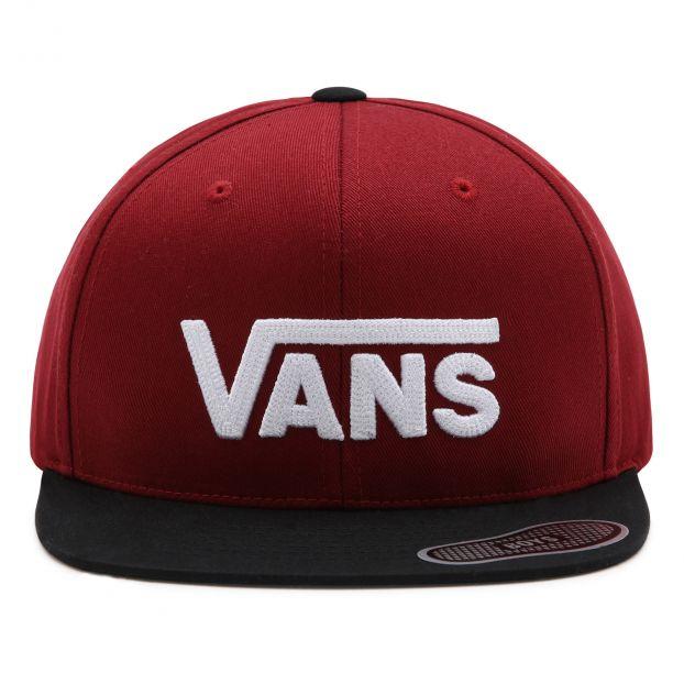 Dual-colour Cap Burgundy Vans Fashion Teen , Children