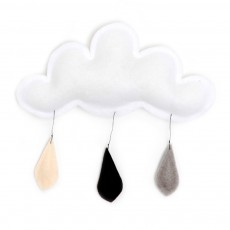product-The Butter Flying Mobile Regentropfen Grau/Schwarz/Creme