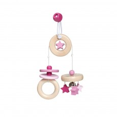 product-Selecta Travelling mobile in wood - Pink