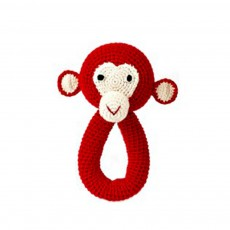 product-Anne-Claire Petit Red Monkey Rattle