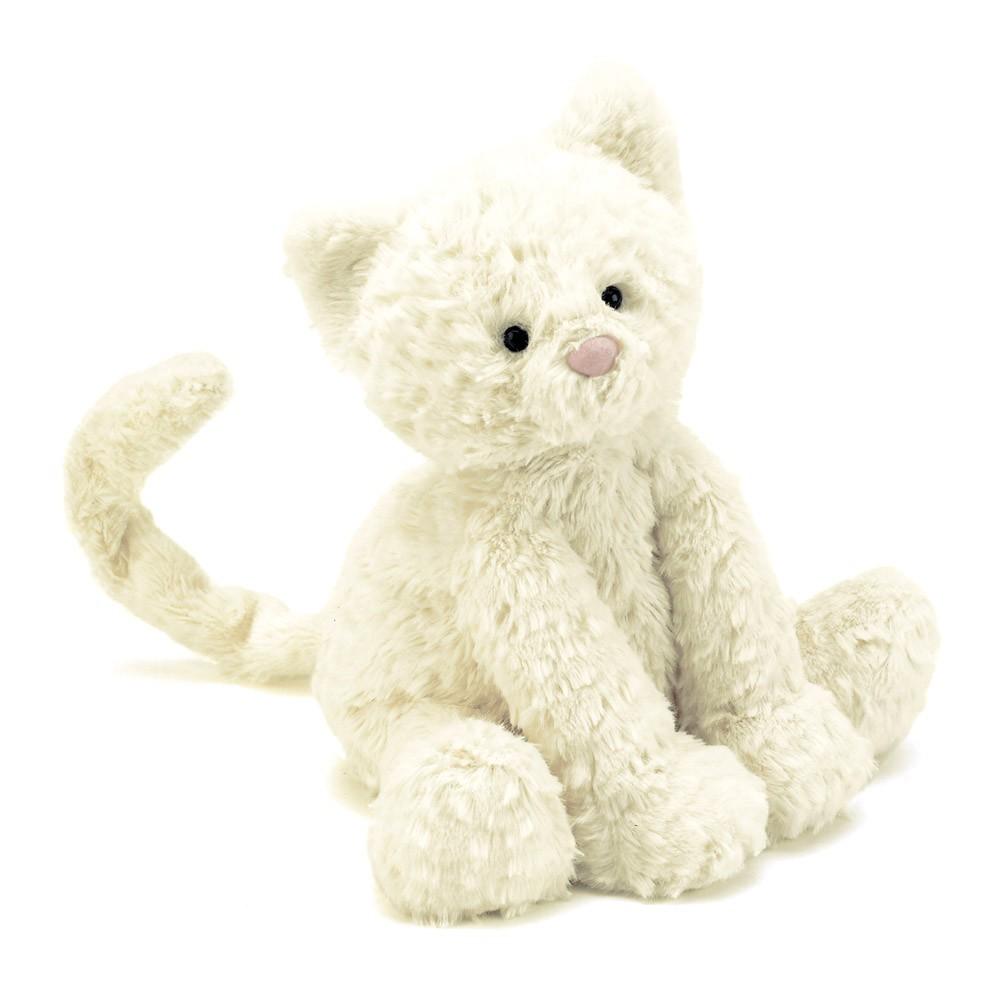 Peluche Petit chat Fuddlewuddle - Blanc