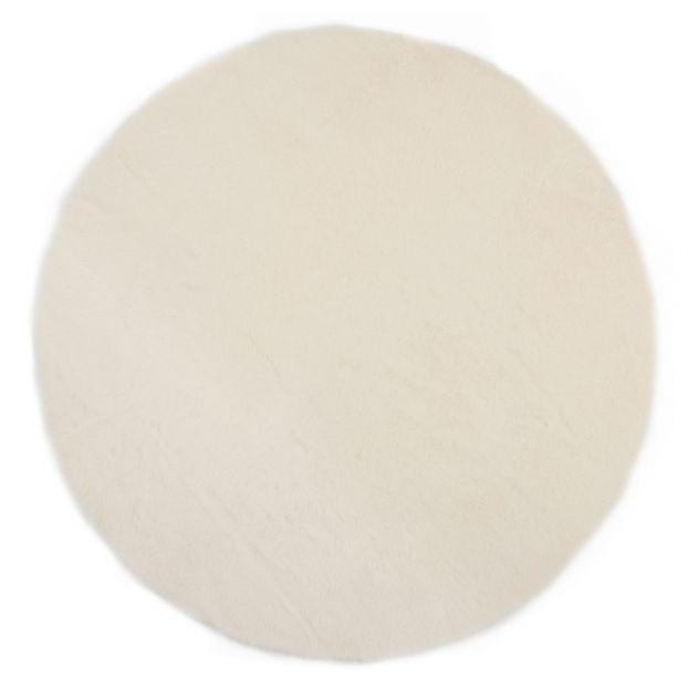 Tapis Rond Blanc Blanc Pilepoil Design Enfant