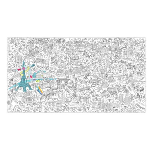 Paris Giant Colouring Poster