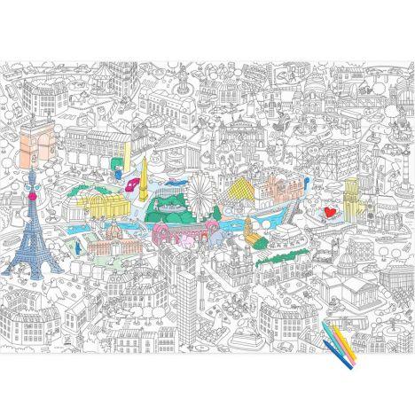 Póster Colorear Gigante París Omy Juguetes y Hobby Infantil