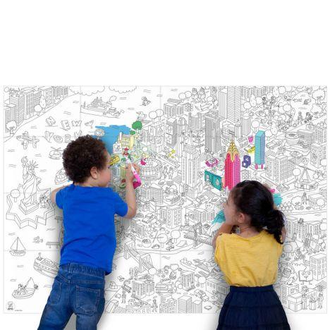 Póster Colorear Gigante New York Omy Juguetes y Hobby Infantil
