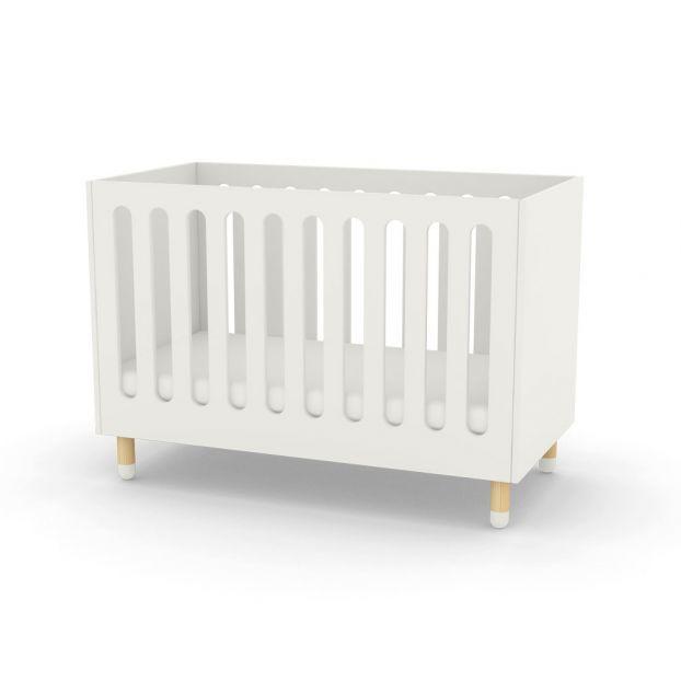 lit b b barreaux blanc flexa play design b b. Black Bedroom Furniture Sets. Home Design Ideas