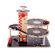 product-Hape Garage en bois Rouge