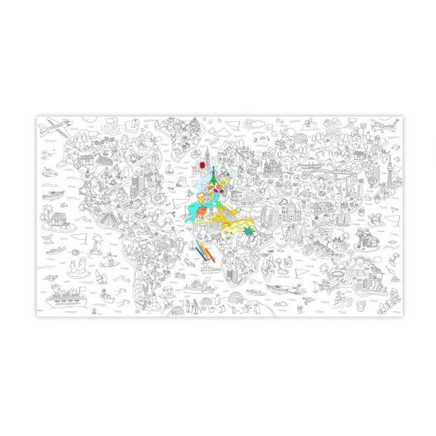 Poster Gigante Da Colorare Atlas Omy Giocattoli E Hobby Bambino