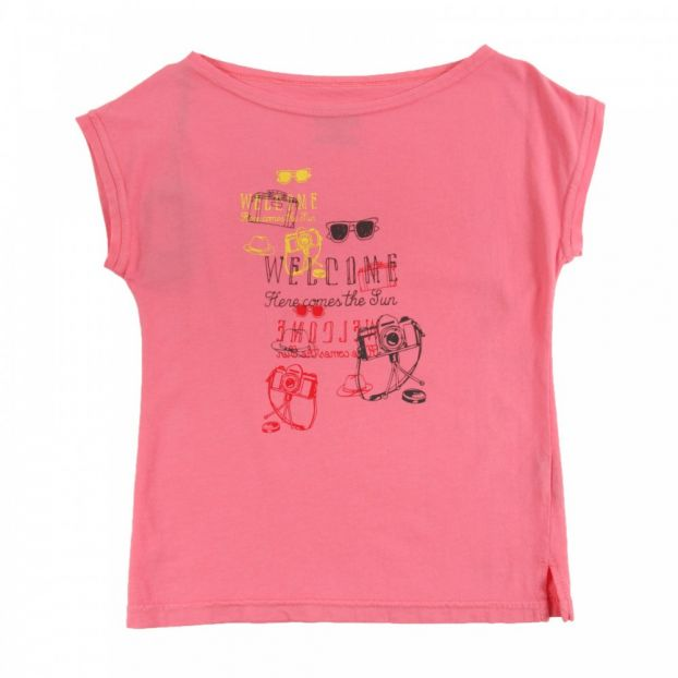 138646f52bebe1 T-Shirt Aufdruck Travel Rosa Sunchild Mode Kind