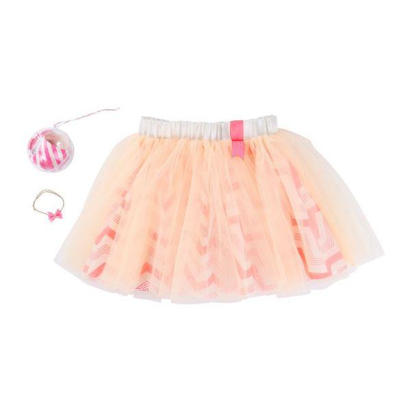 Jupon Rayures Tulle Rose pêche Billieblush Mode Enfant fcaffc20c7d9