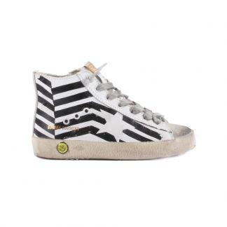 sélection premium 302af c55f8 Baskets Cuir Zip Francy Blanc
