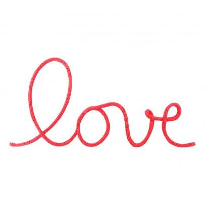 Décoration murale mot Love - Corail
