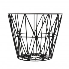 product-Ferm Living Cesta Wire mediana - Negra