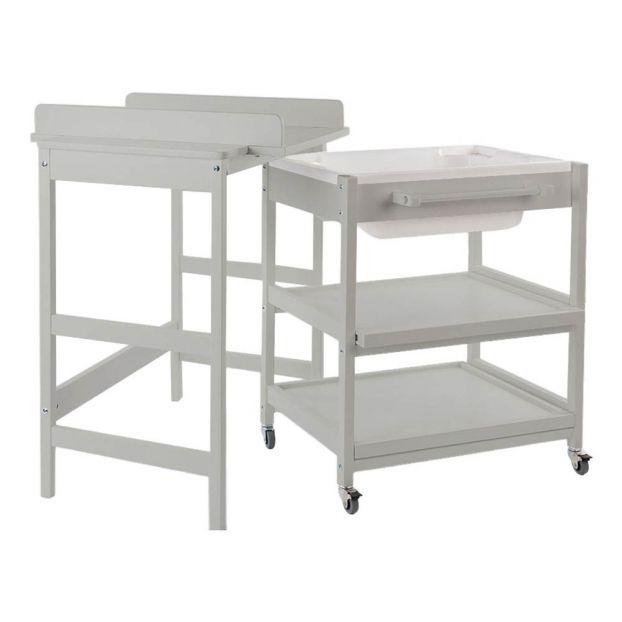 Table à Langer Comfort Smart Baignoire Gris Clair Quax Design