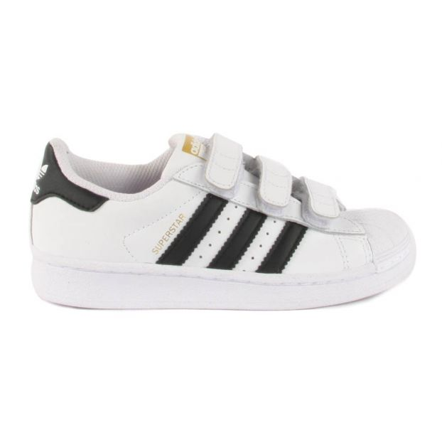 326f631adeba Superstar Foundation Black Velcro Trainers White Adidas Shoes