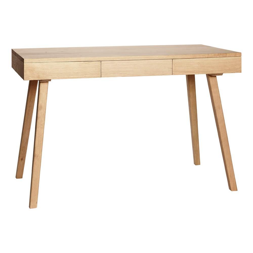 Außergewöhnlich Schreibtisch mit 3 Schubladen Natur Hübsch Design Erwachsene @NV_99