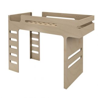 Amber In The Sky Bunk Beds 190cm Ladder On Right Grey