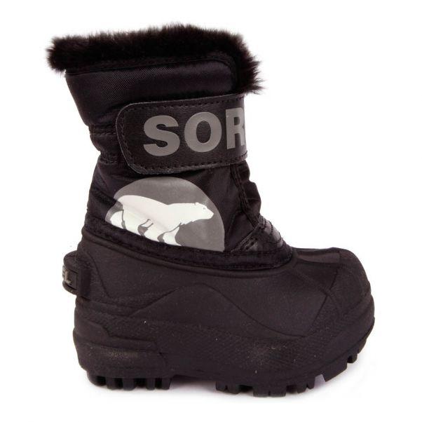 Bottes Fourrées Snow Commander Noir Sorel Chaussure Bébé , ec066c23760e