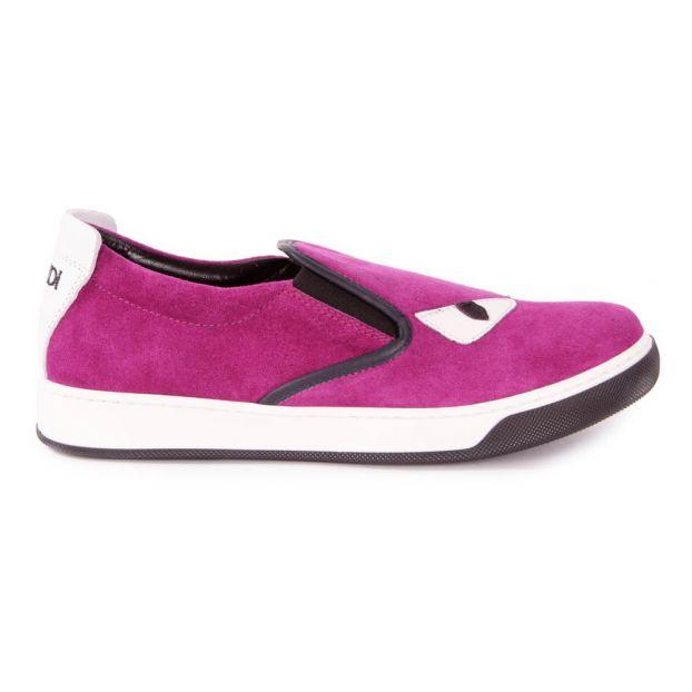 6d45b2dd Eyes Leather Slip-ons Fuchsia Fendi Shoes Teen , Children