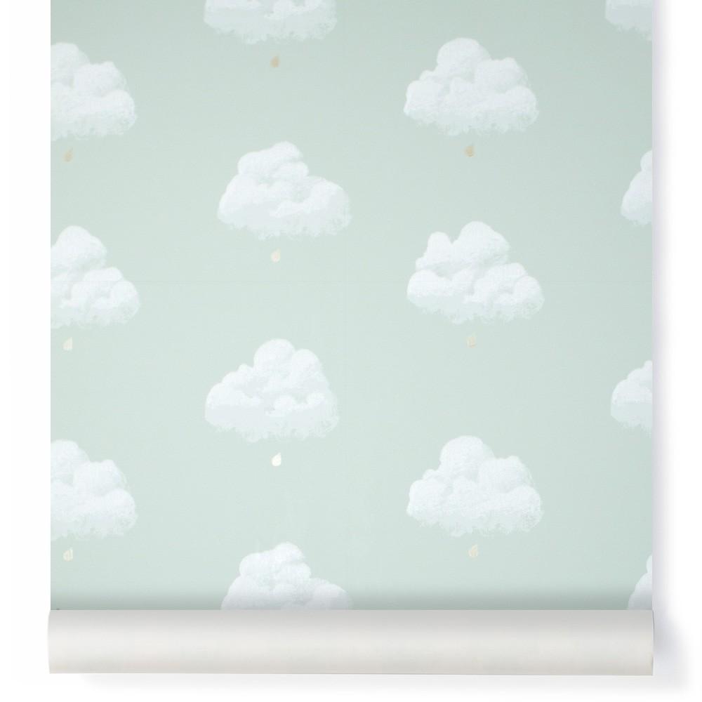 Papel pintado Nubes de Algodón - Verde agua Bartsch Design