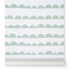 product-Ferm Living Kids Half-moon Wallpaper - mint green