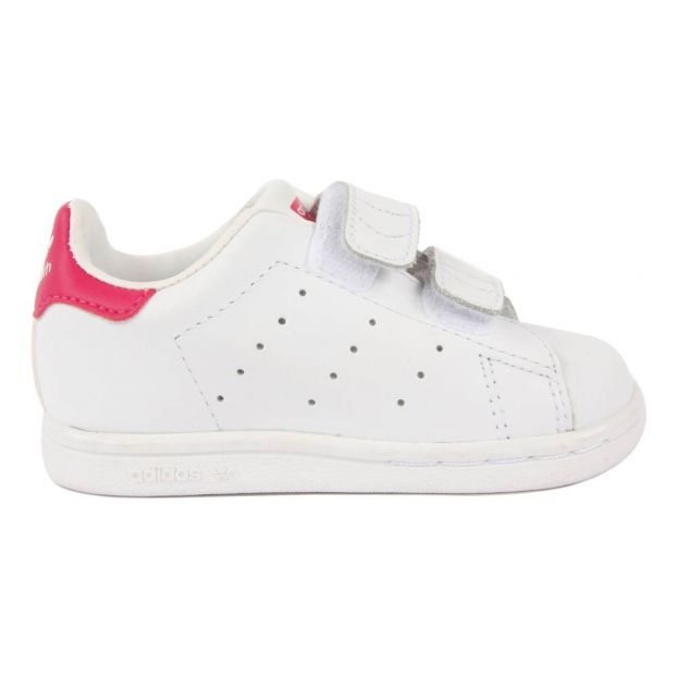 new concept 5c9fe a6035 Stan Smith Pink Velcro Trainers Pink