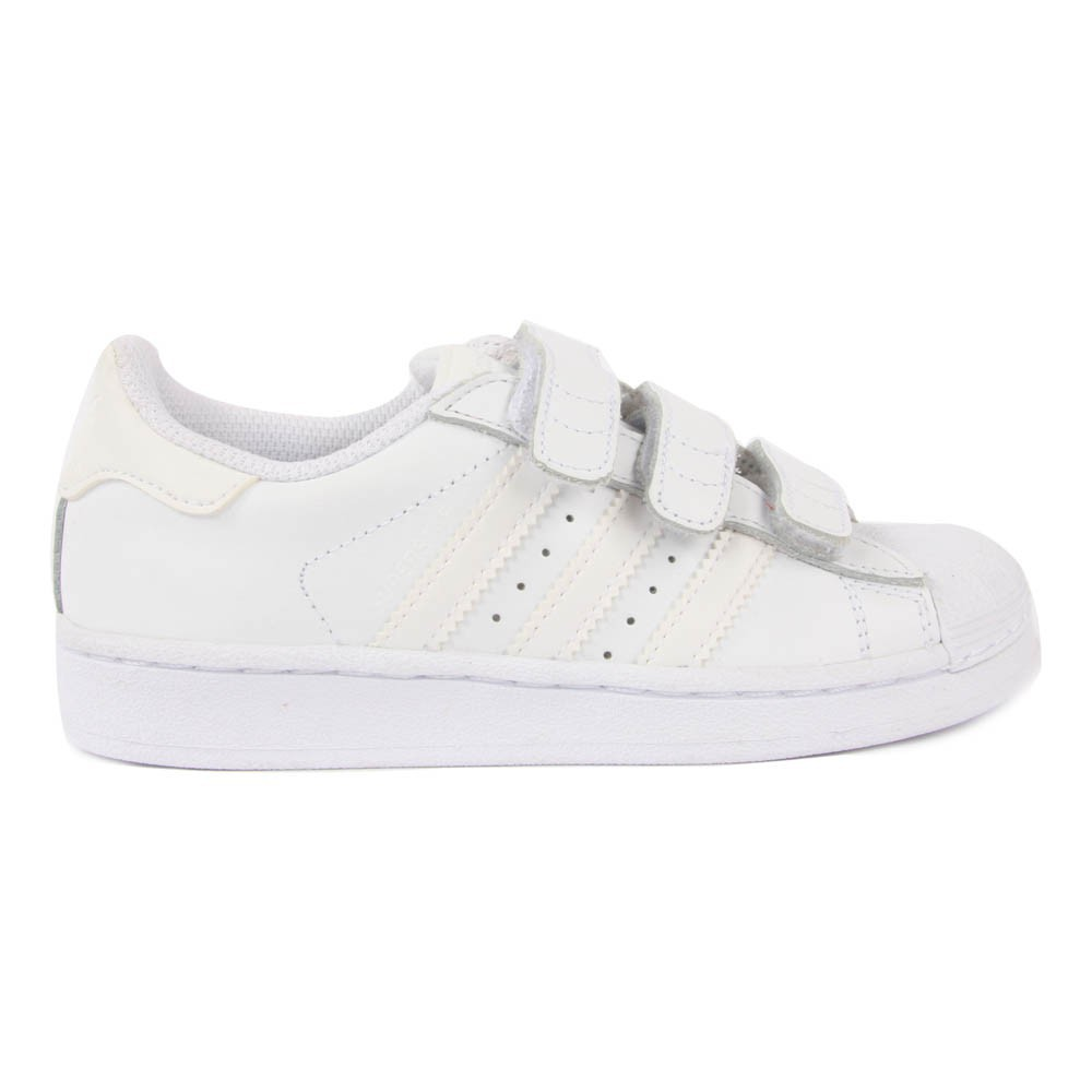 Baskets Cuir Velcro Superstar Blanc Adidas