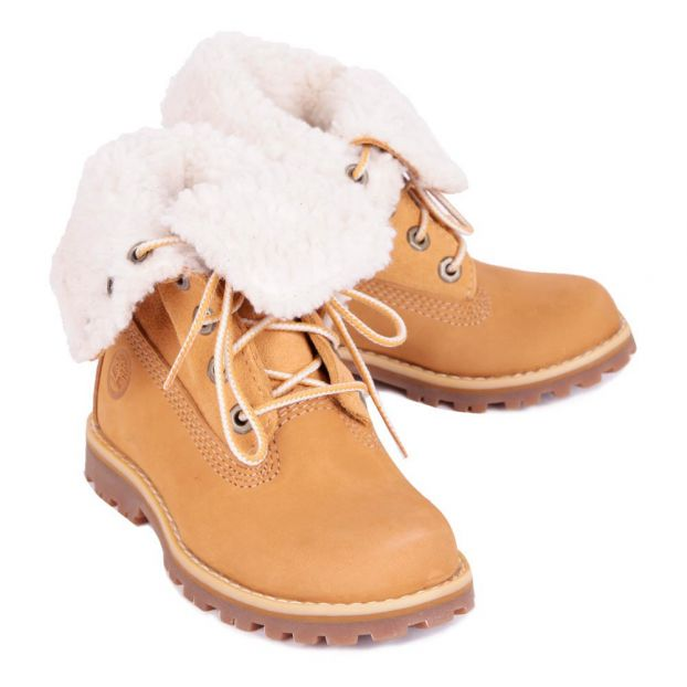 Boots Fourrées Waterproof Authentics Camel Timberland Chaussure