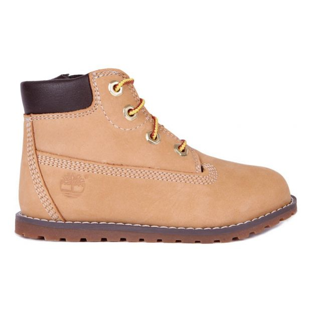 Boots Nubuck Lacets Zip Pokey Pine Camel