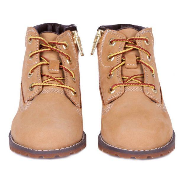 Boots Nubuck Lacets Zip Pokey Pine Camel Timberland Chaussure